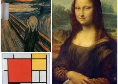 Klorollenkunst berühmte Gemälde 2 Henning