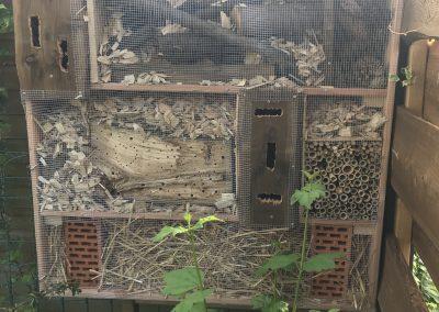 Selbstgebautes Insektenhotel von Leo